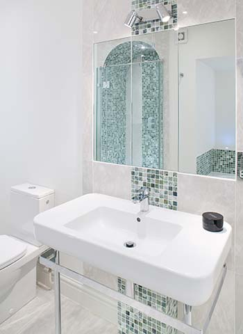 Property Interior - bathroom with basin and mirror