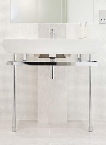 Property Interior - bathroom basin with mirror